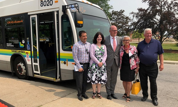 Mayor, County Mayors and St.Clair College President Launch Transit