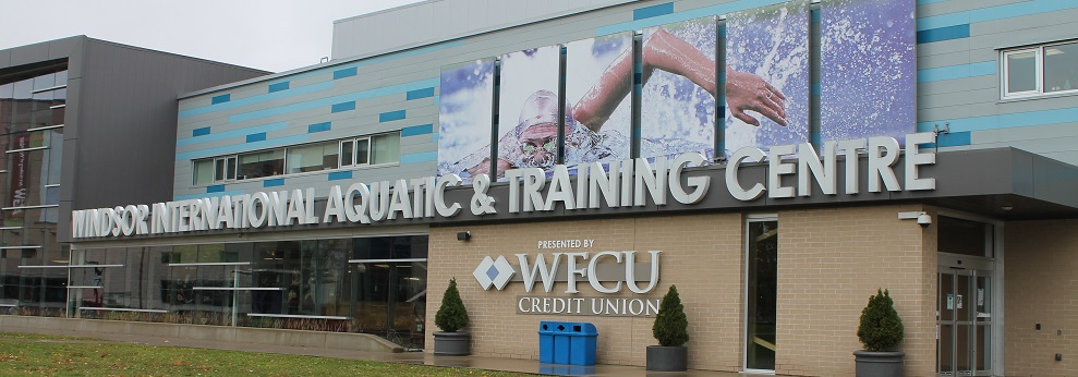 Exterior view of Windsor International Aquatic and Training Centre Presented by WFCU Credit Union