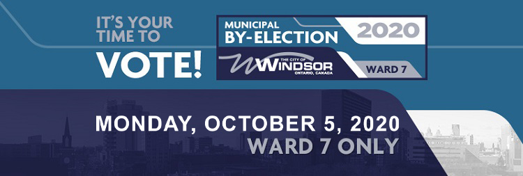 It's Your Time to Vote! Municipal By-Election 2020 logo