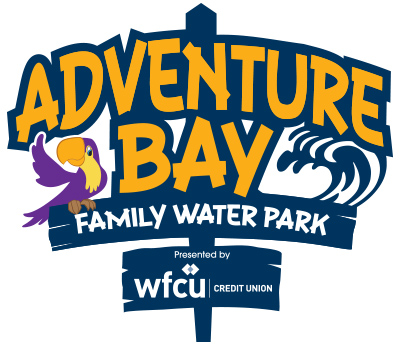 Adventure Bay Family Water Park Presented by W F C U Credit Union logo