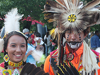 First Nations Performers in Regalia