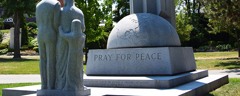 Granite monument for peace.