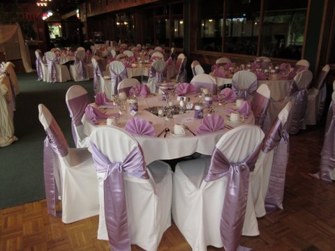 Roseland wedding reception arrangment