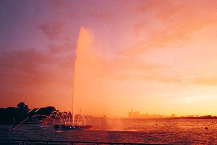 Peace Fountain at Sunset