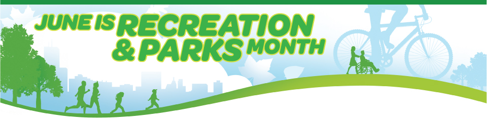 June is Recreation and Parks Month logo