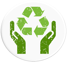 Resource Efficiency logo of the recycle symbol