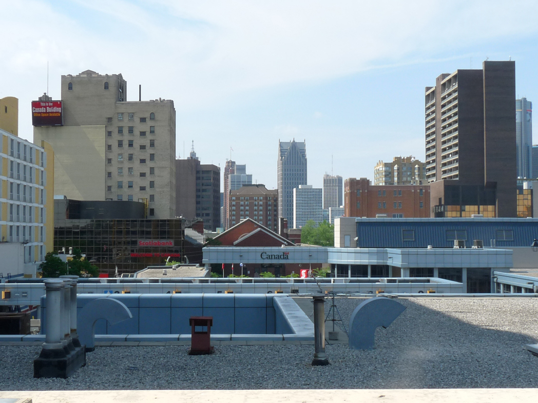 Downtown high rises seen from a roof top